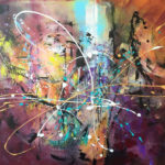 Universo- Acrylic on canvas, 40x30 inch /101,5 x 76 cm