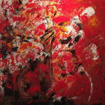 Rouge Passion, Acrylic on canvas ,36x36 inch/ 91,44x91,44 cm