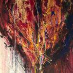 Le Cœur à la fête - Acrylique sur toile, 30x40 po. / 76x101,5 cm