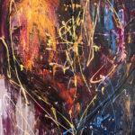 Un Cœur en hiver - Acrylique sur toile, 30x40 po. / 76x101,5 cm