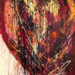 Coup de cœur - Acrylique sur toile, 36x48 po. / 91,44x121,92 cm