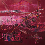 Fragmentos, Acrylic on canvas 50x50 inch./127x127 cm