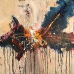 Soul Finding - Acrylique sur toile, 24x24 po. / 61x61 cm