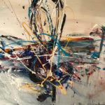 Melomania - Acrylique sur toile, 30x40 po./ 60x90 cm