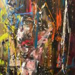 Il Cantante, Acrylic on canvas, 30 x 40 inch/ 76,2 x 101,6 cm