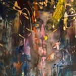 Ombra di nube, Acrylic on canvas 30x15 inch./ 1 76,2 x 38,1 cm
