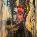 Nessun Dorma, Acrylic on canvas, 20 x 20 inch / 50,8 x 50,8 cm