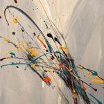 W, Acrylic on canvas 18 x 36 inch./46 x 91,5 cm