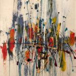 Épure, Acrylic on canvas , 18 x 36 inch./46 x 91,5 cm