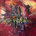 La force du destin - Acrylique sur toile, 48 x 36 po. / 122 x 91 cm
