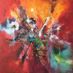 Alive - Acrylique sur toile, 40 x 40 po. / 101,6 x 101,6 cm