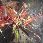 Let Go, Acrylic on canvas , 40 x 30 inch. / 101,6 x 76,2 cm