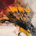 Fierce Grace, Acrylic on canvas 26 x 35 inch. / 60 x 89 cm