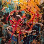 Paradis City - Acrylique sur toile, 20 x 30 po. / 51 x 76 cm