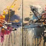 Suavidad - Acrylique sur toile, Diptyque, 16 x 16 po. / 41 x 41 cm