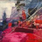 Ciudad del Angel - Acrylic on canvas,39x39 inch/ 100x100 cm