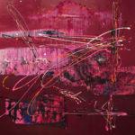 Fragmentos - Acrylique sur toile, 50x50 po. /127x127 cm