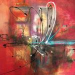 Flor de Passion - Acrylique sur toile, 40x30 po. /101,5x76 cm