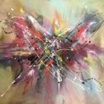 Impulso - Acrylique sur toile, 40x30 po. /101,5 x 76 cm