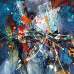 Sfarfallio di emozioni 2018 - Acrylique sur toile 16x16 / 40,64x40,64